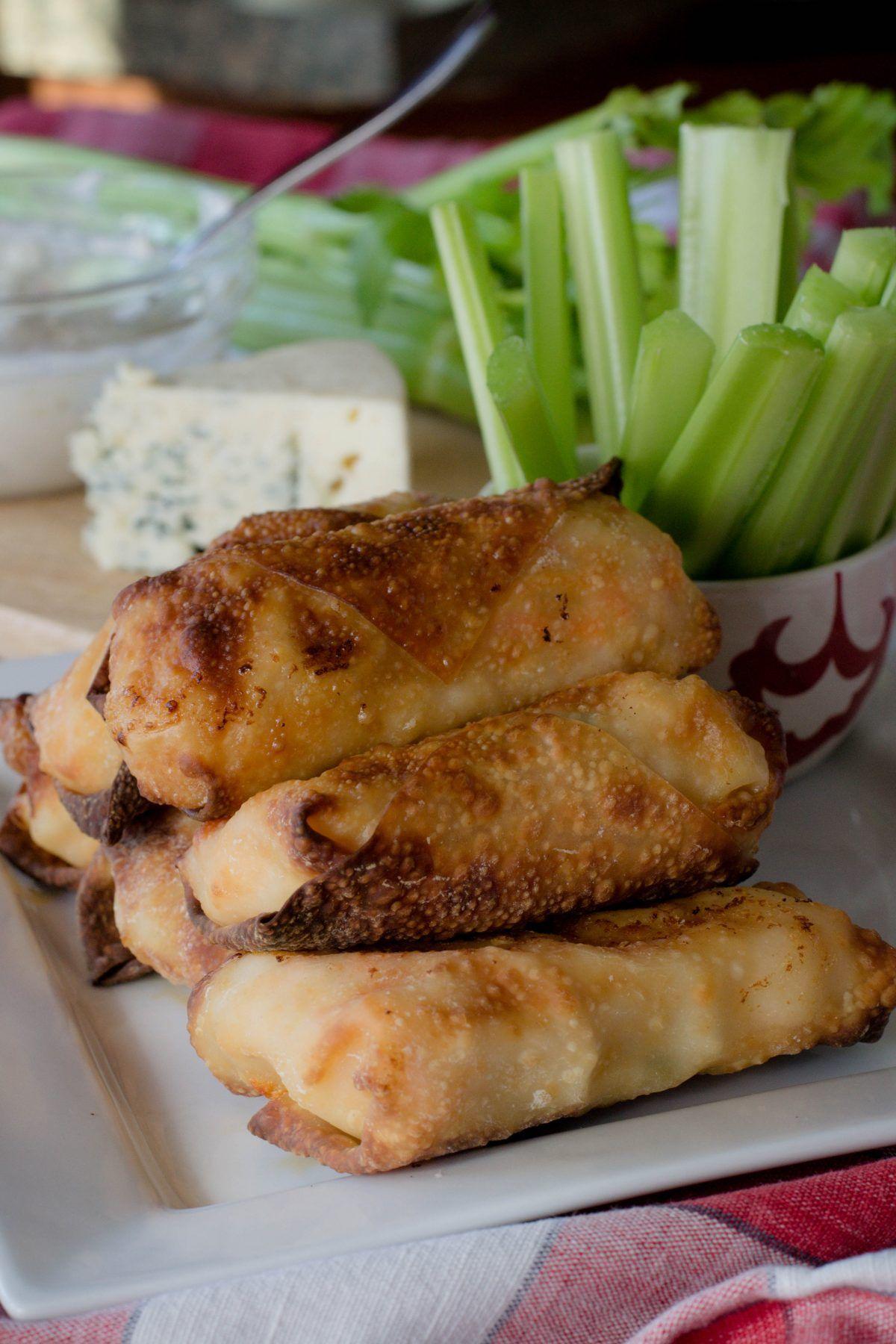 Air Fryer Buffalo Shrimp Egg Rolls What the Forks for
