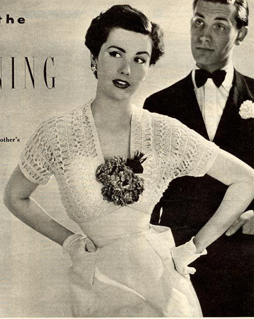Vintage Chic: Hairpin Crochet Shrug 1952 | Crochet Shrugs, Boleros ...