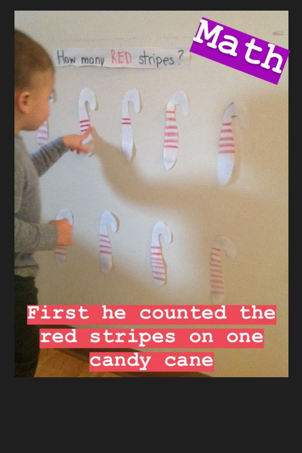 Candy Cane Math Activity How Many Red Stripes Count The