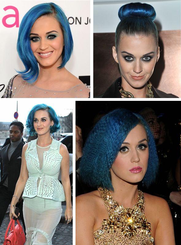 Katy Perry - Cabelos super coloridos
