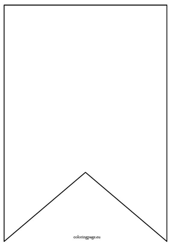 Flag banner template - Coloring Page | Dean bday ideas | Pinterest ...
