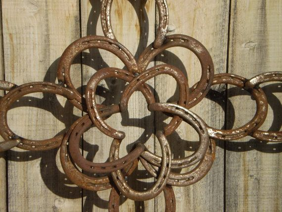 horseshoe cross raised center star rustic western decor cowgirl cowboy decor vintage horseshoe cross rustic cabin wall garden art - Cowboy Decor
