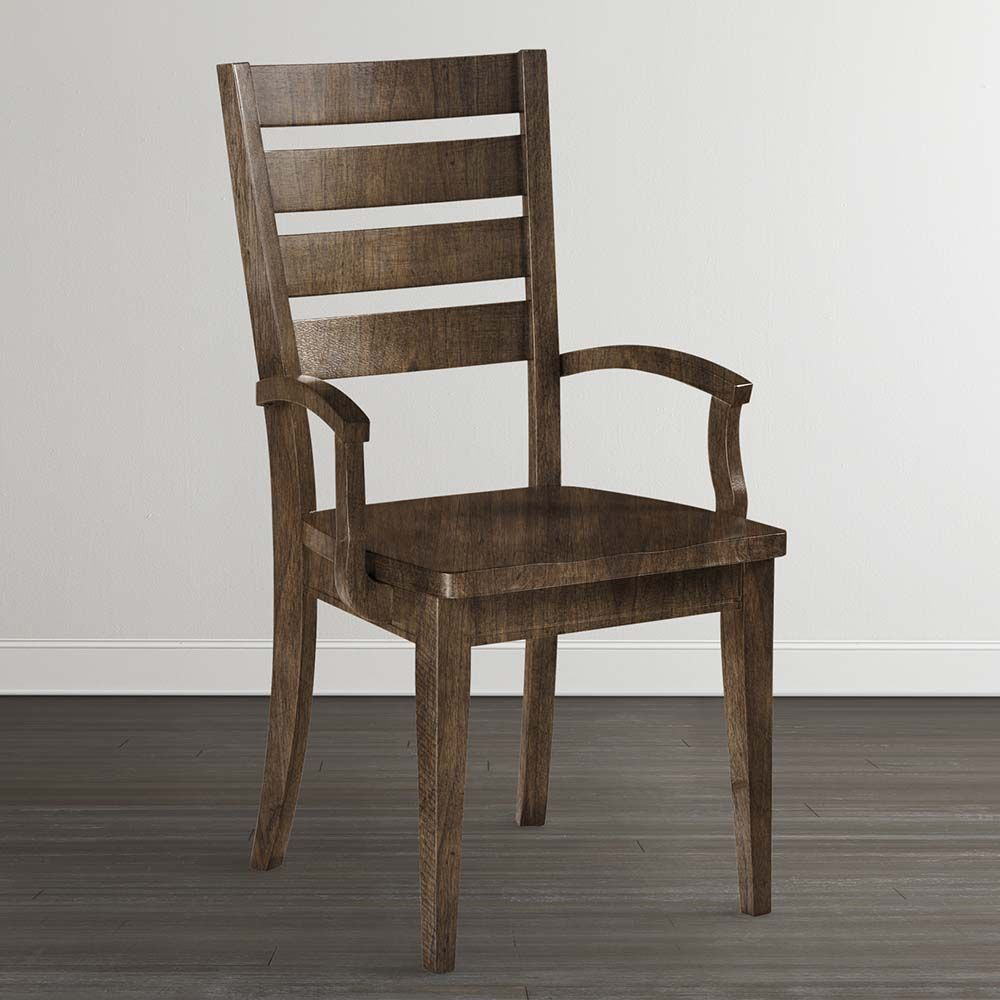 Custom Dining Arm Chair | Arms, Wood arm chair and Custom wood