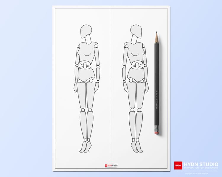 Women S 9head Body Figure Templates For Fashion Illustration Hydnstudio In 2021 Body Figure Digital Fashion Design Body Template