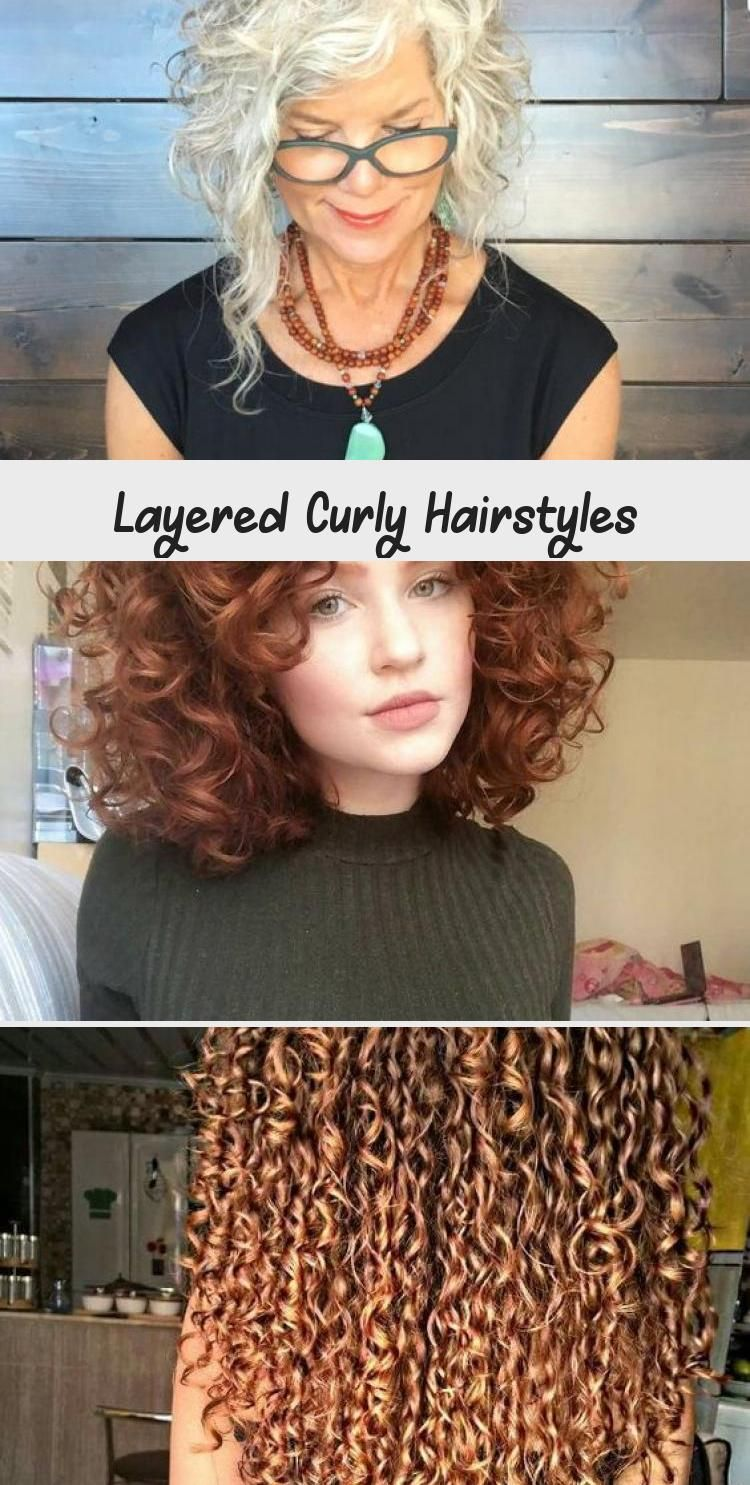 Short and Long Layered Curly Hairstyles – Part 17 #curlyhairMen #Mediumcurlyhair…