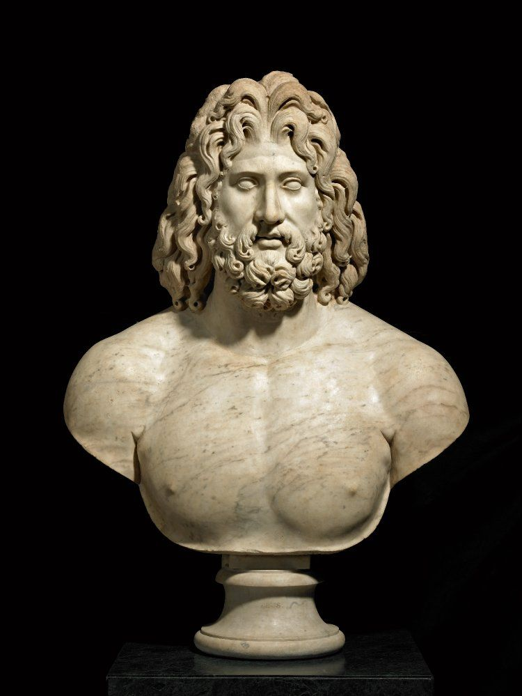Colossal Marble Bust Of Zeus 169 Trustees Of The British