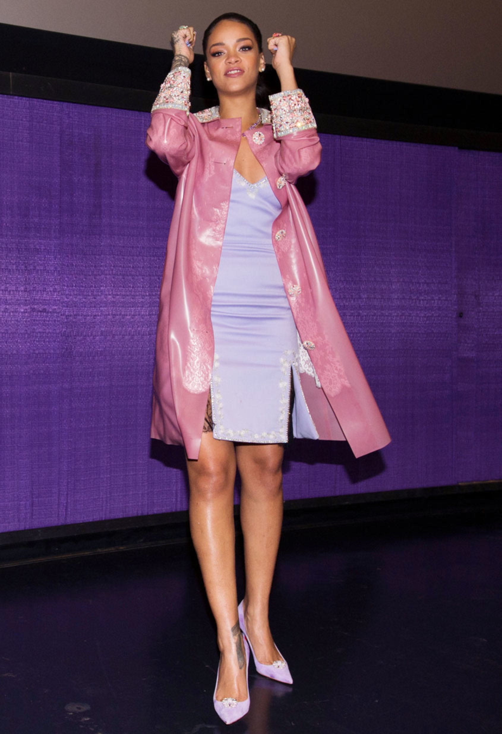 Rihanna's perfect pastel outfit