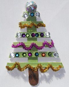 Modern Popsicle Stick Christmas Tree