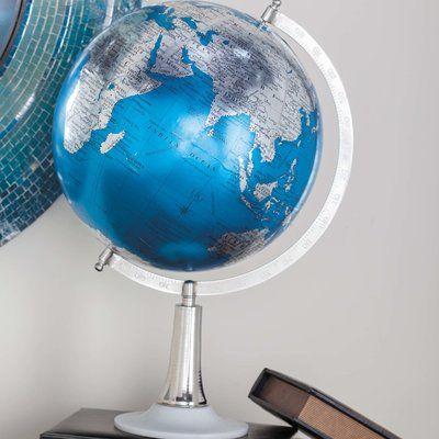 Cole Grey Globe Color Blue Silver Size 20 H X 13 W X 11 D