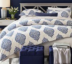Mackenna Paisley Curtain - Blue