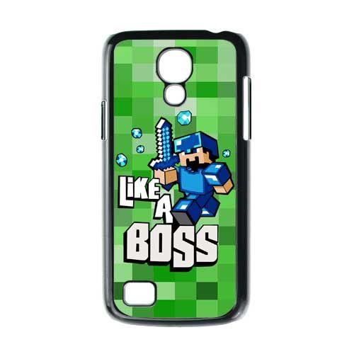 new styles 459d6 552ae Minecraft Like A Boss Blue Samsung Galaxy s4 Mini Case $16.89...this ...