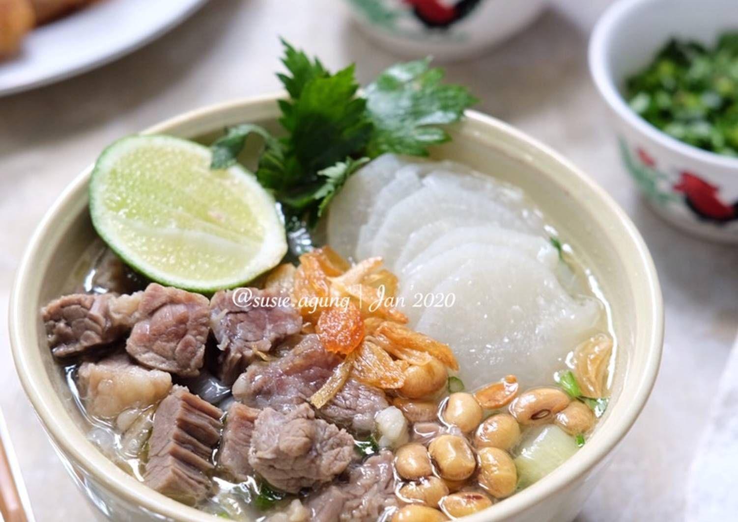 Resep Soto Bandung Oleh Susi Agung Resep Resep Resep Makanan Sehat Resep Sup