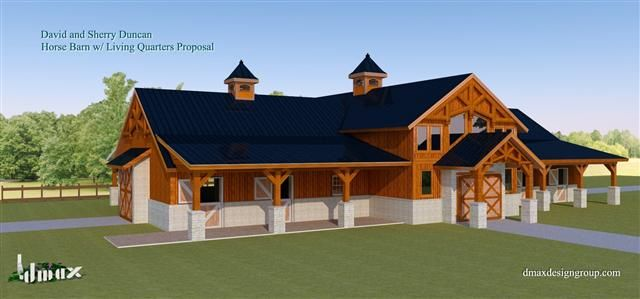 horse barns with apartment plans google search horse