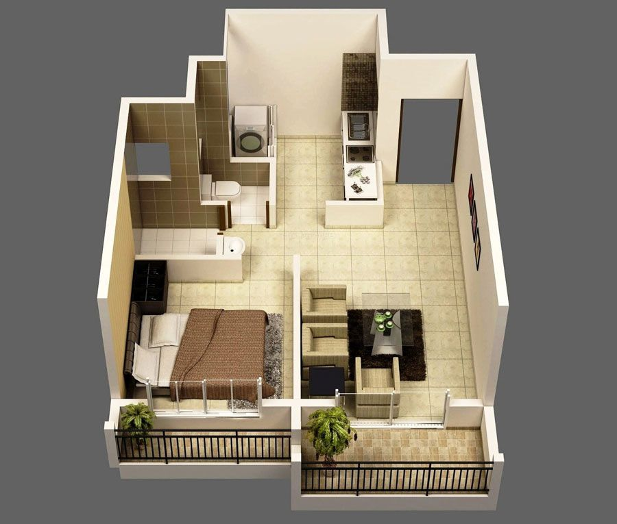 Small House Plans Under 500 Sq Ft How To Design Small Bedrooms One Bedroom House 1 Bedroom House Plans Apartment Floor Plans