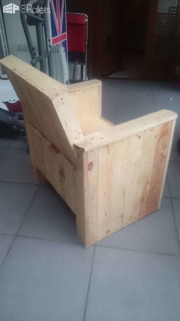 Reclaimed Pallet Armchair Pallet Benches, Pallet Chairs U0026 Stools