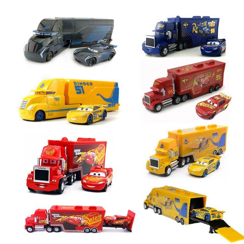 Cars 3 Mcqueen Jackson Storm Hauler Truck Racer Metal Toy Car 1