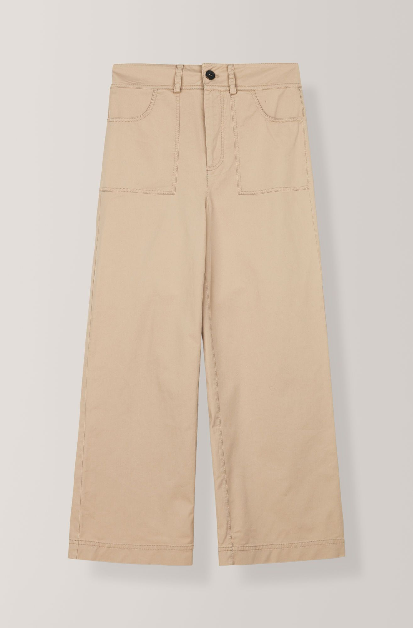 21b537a24ed Trousers with wide legs, large front pockets and belt loops. <br ...