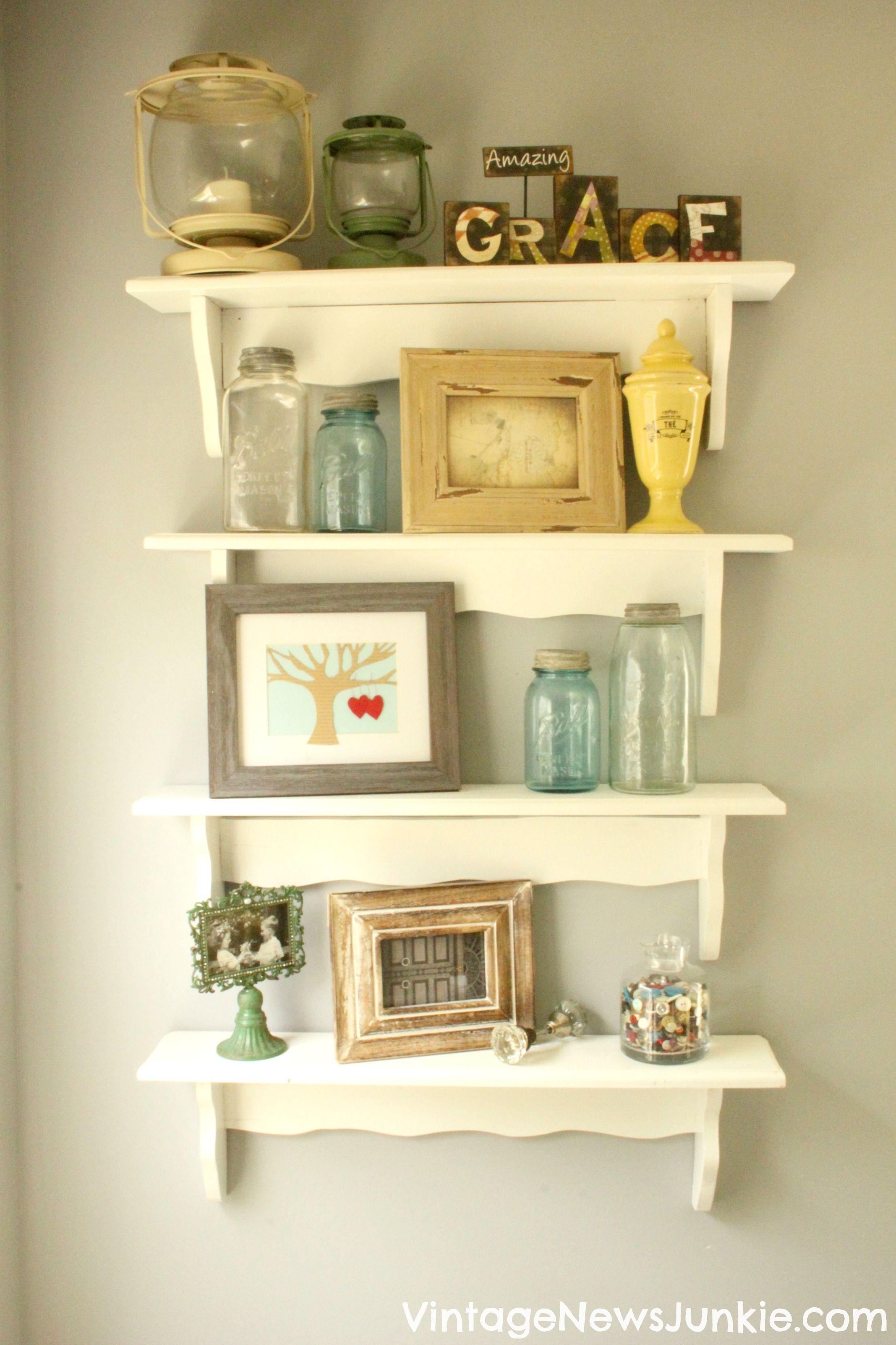 Stack Wooden Shelves for a DRAMATIC Look! | Wooden shelves, Shelves ...
