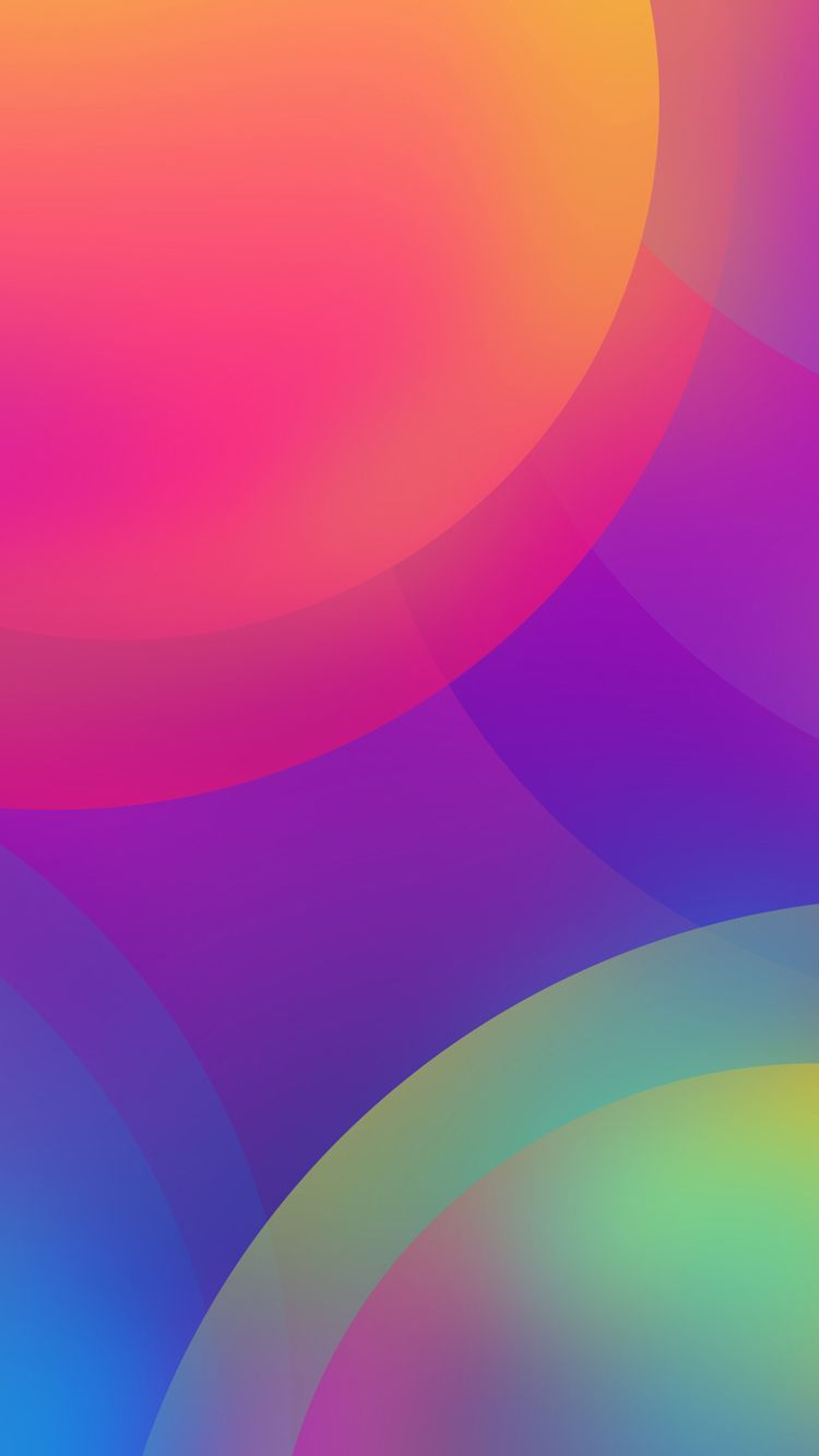 Free Download of Apple iPhone 7 Background with Colorful Circles