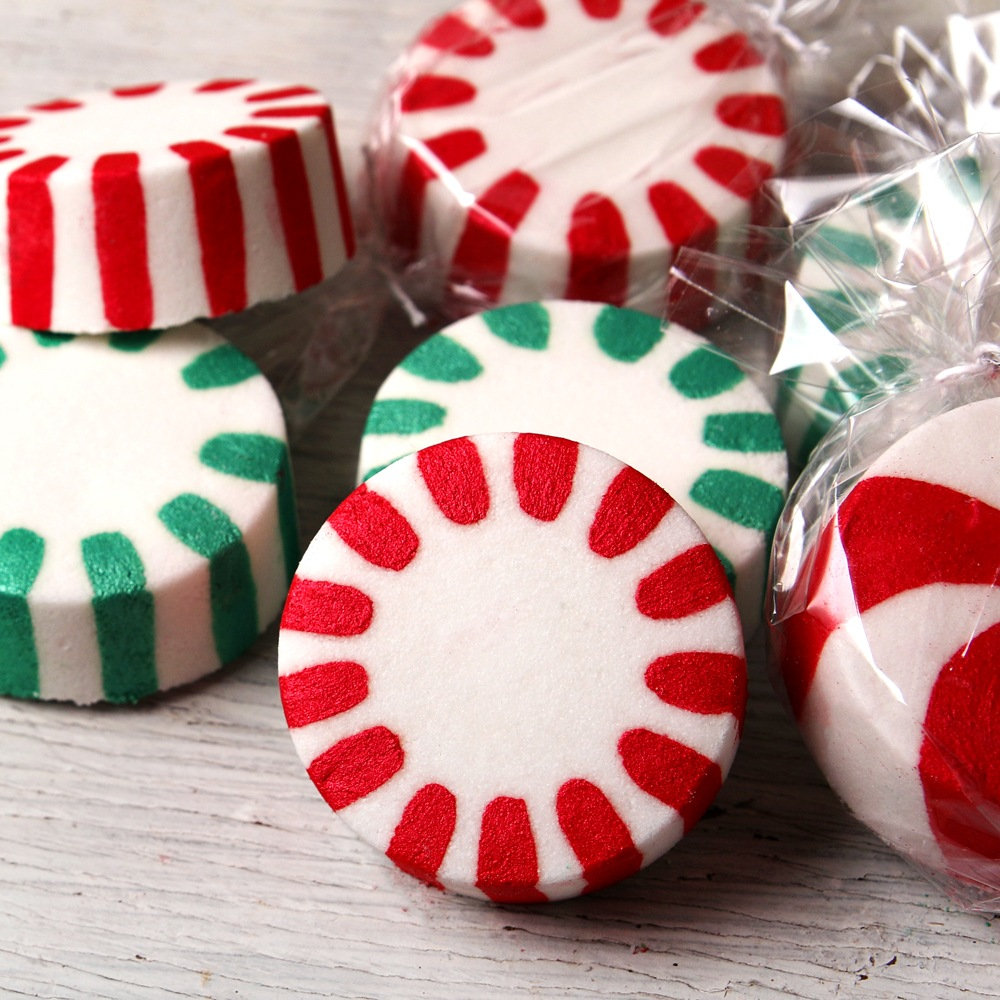 Buy Peppermint Candy Bath Bomb Project at BrambleBerry