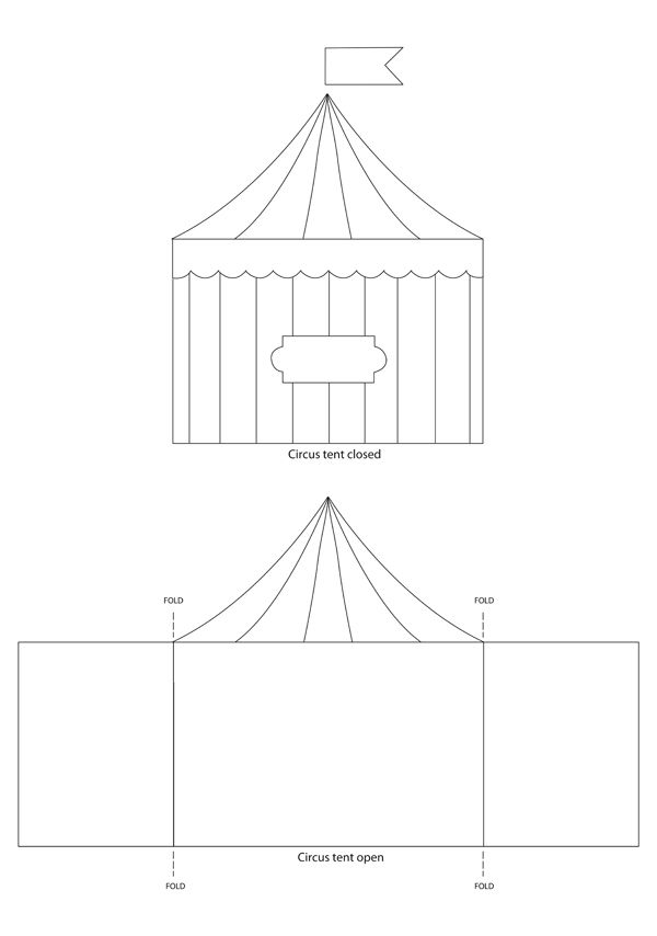 Circus Tent Template Sirkus on pinterest clowns, u003cbu003ecircusu003c\/b - table tent template