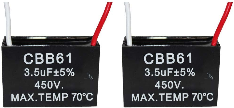 Uxcell Cbb61 Ac 450v 10uf 5 Tolerance 4pin Black Rectangle Polypropylene Film Air Conditioner Fan Motor Run Capacitor 10uf Af Capacitor Inductors Electricity