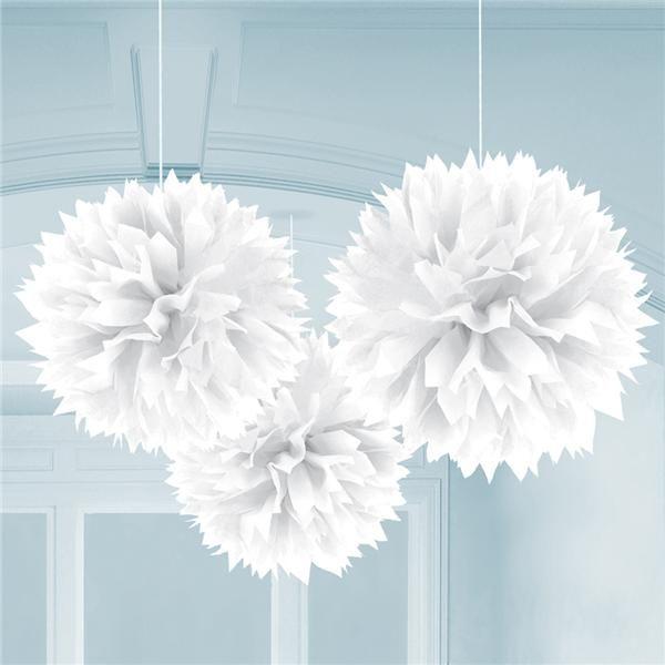 Kit 3 Pompones Gigantes Blancos. Una manera fácil y rápida de decorar una boda. http://www.airedefiesta.com/product/4547/0/0/1/1/Kit-3-Pompones-Gigantes-Blancos.htm
