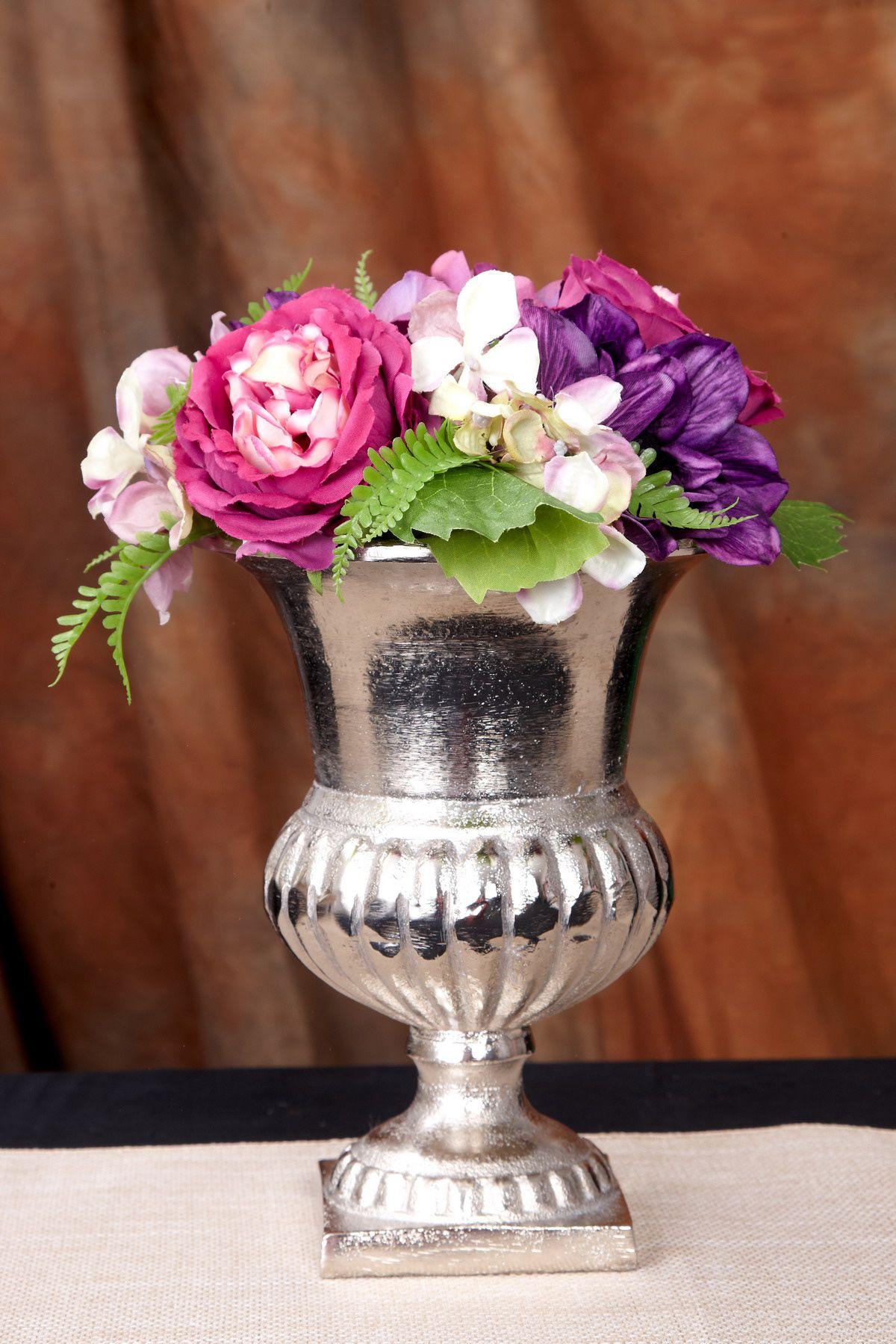 Flower Vase Metal Silver 8 25in Flower Vase Arrangements Flower Vases Flower Arrangements