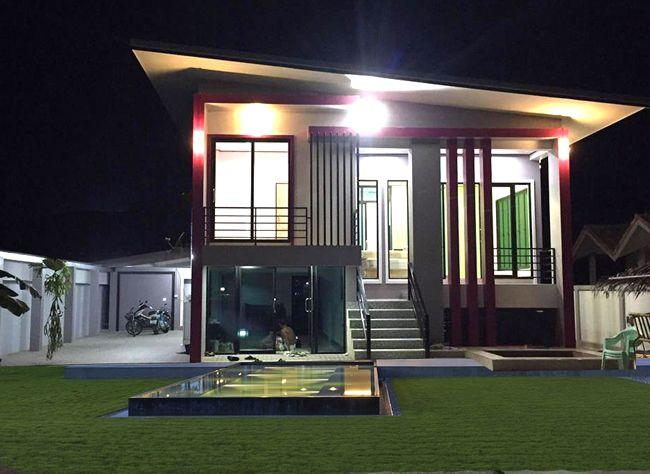 แบบบ านโมเด ร นช นเด ยวงบไม เก นล าน Md16 One Storey House House 2 Bedroom House Design