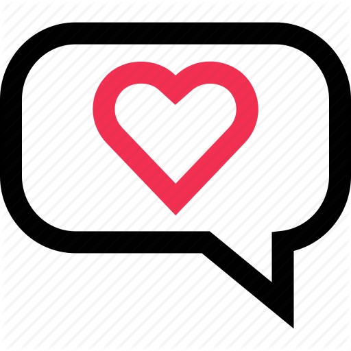 Bubble Chat Heart Love Messaging Sms Text Icon Text Icons Text Message Icon Text Message Bubble