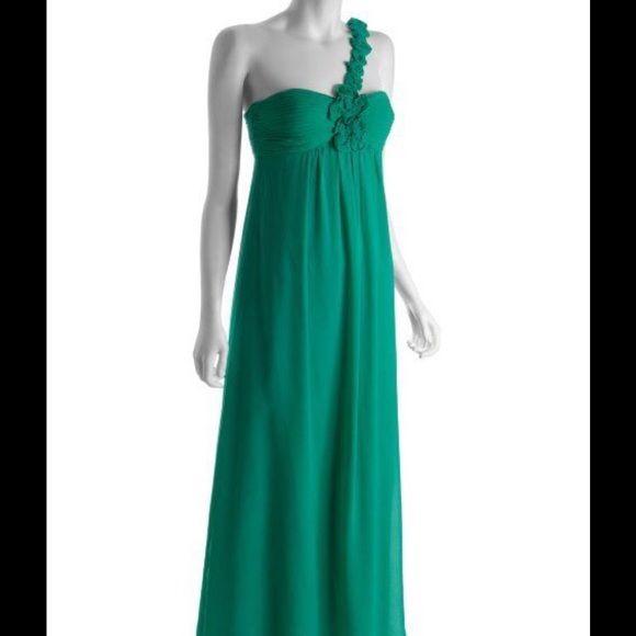 BCBG Maxazria Emerald Green Gown (8)