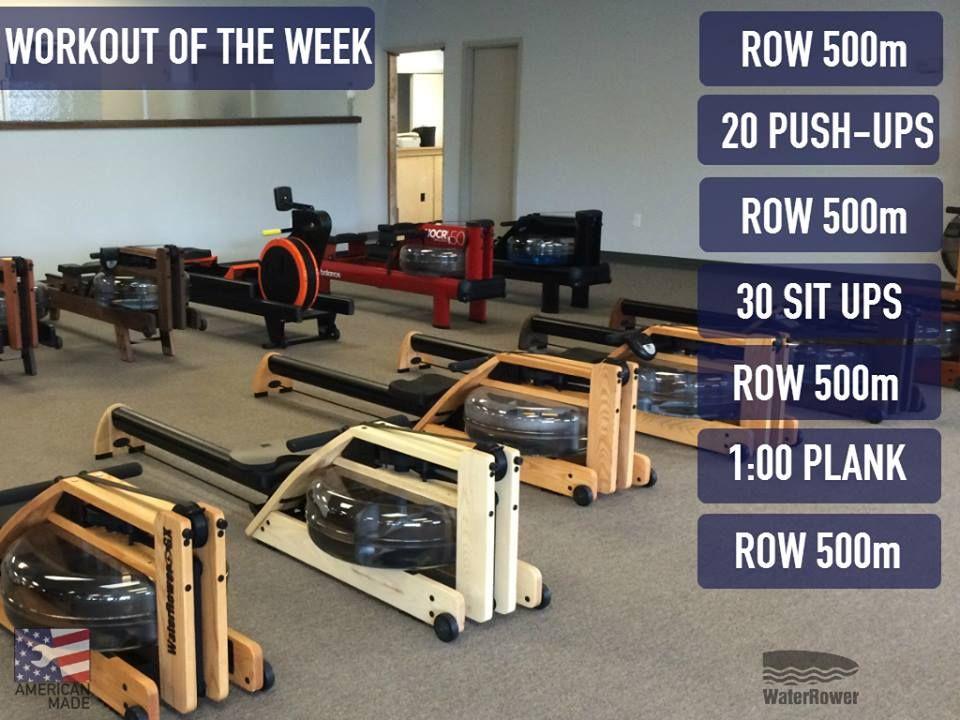 Idea by waterrower inc on waterrower workouts rowing
