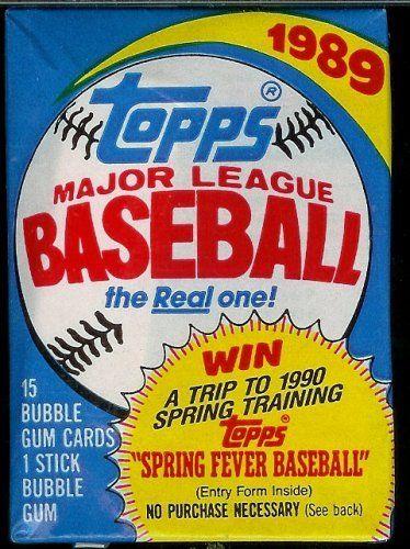 1989 Topps Baseball Cards Unopened Hobby Pack 15 Cards Per