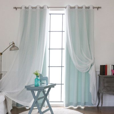 Rosecliff Heights Ravenwood Solid Sheer Thermal Grommet