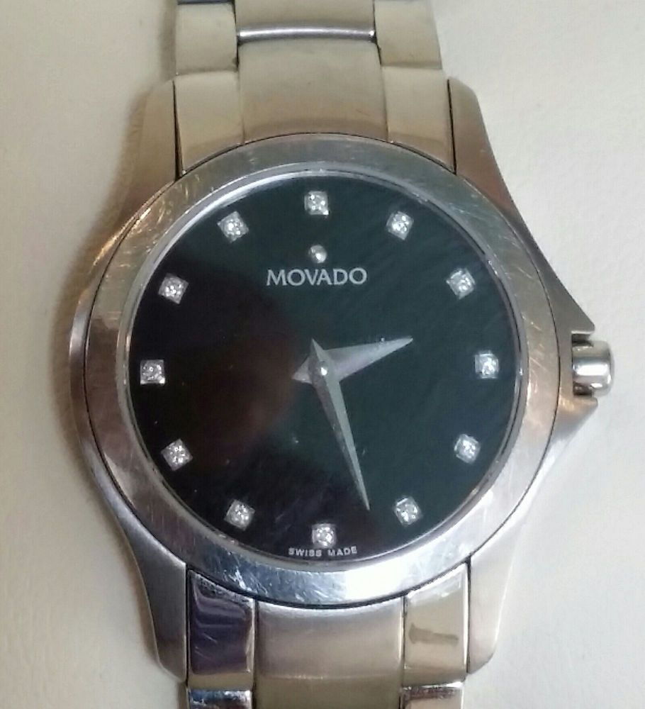 6521dc9479f46 Movado Museum Lady s Stainless Steel Diamond Dial 84 E4 1849  Movado   SportCasual