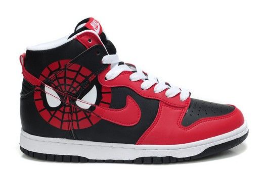 more photos 443aa 33363 SPIDERMAN Nikes Dunk High Tops MARVEL Shoes