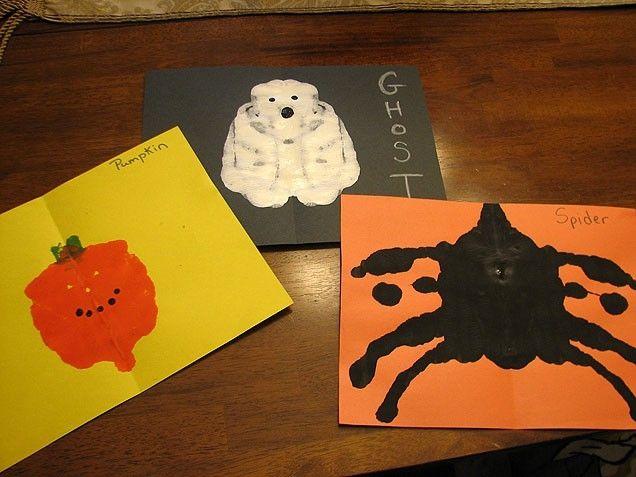 Eerie, eye catching in blots art craft eerie halloween crafts crafty - halloween crafts ideas
