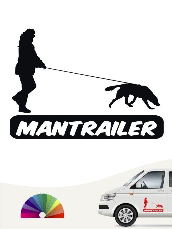 Mantrailing 8 Aufkleber, Männer und hunde und Auto aufkleber