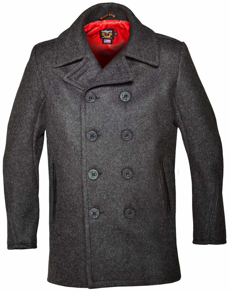 58ca75a8703 Schott NYC Mens 740 Naval Peacoat in Melton Wool | Coats in 2019 ...
