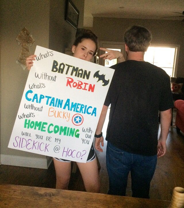 superhero homecoming proposal                                                                                                                                                                                 More #prompicturesgroup #hocoproposals