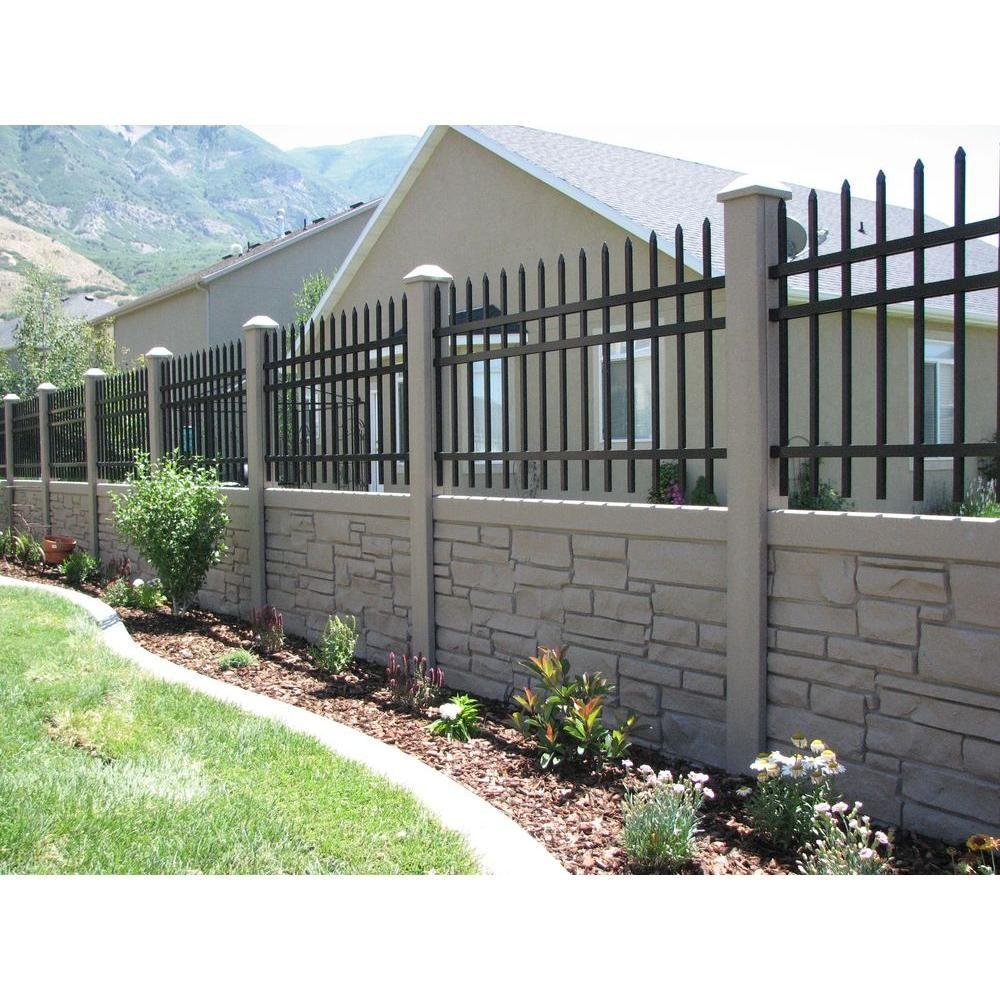 w ecostone gray composite fence panel - Composite Fencing