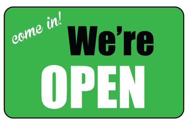 Printable We Re Open Sign Business Sign Free Download Printable Signs Open Signs Business Signs