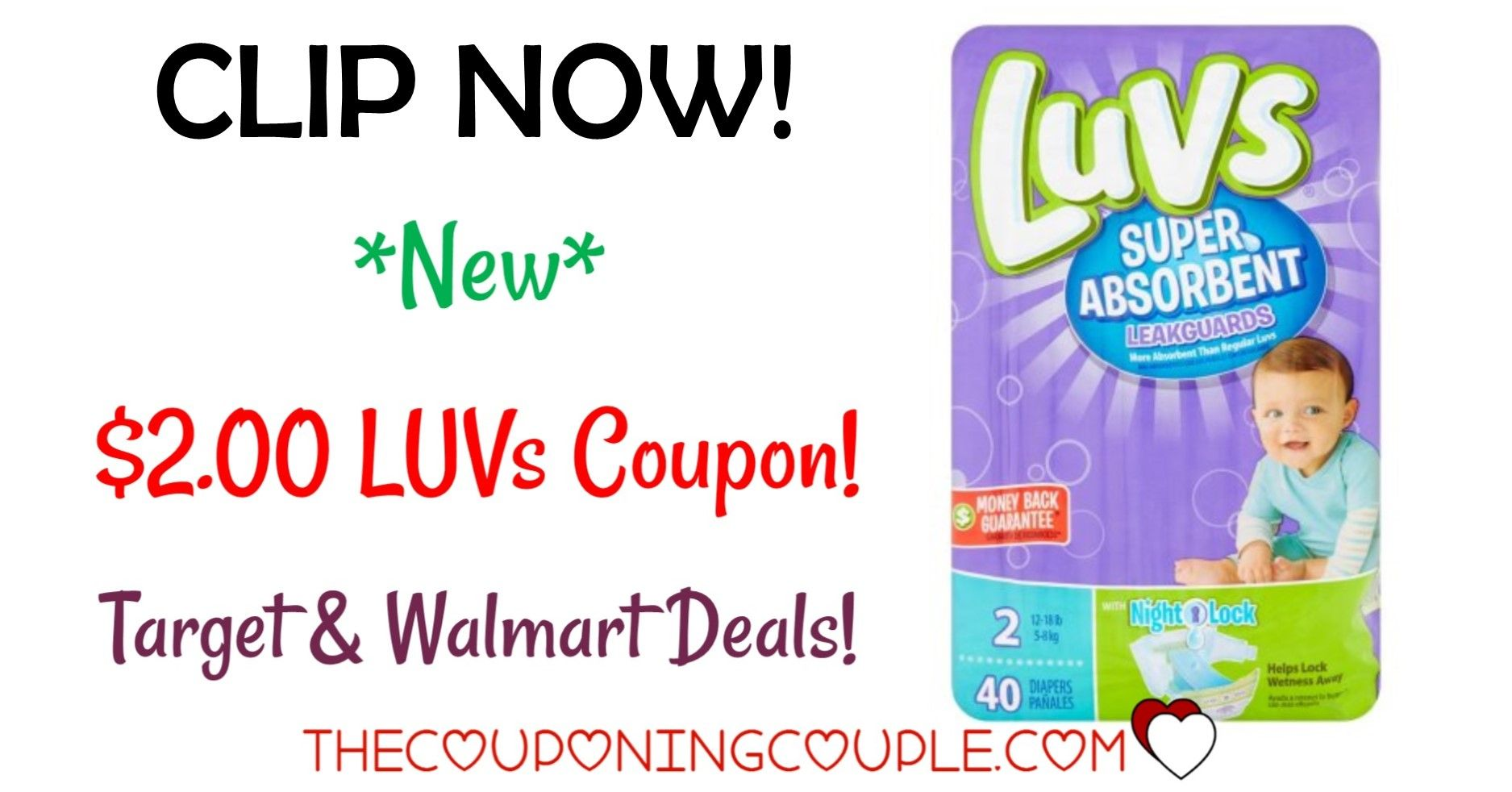 Nice Deal on Luvs Diapers  Walmart and Target As Low As
