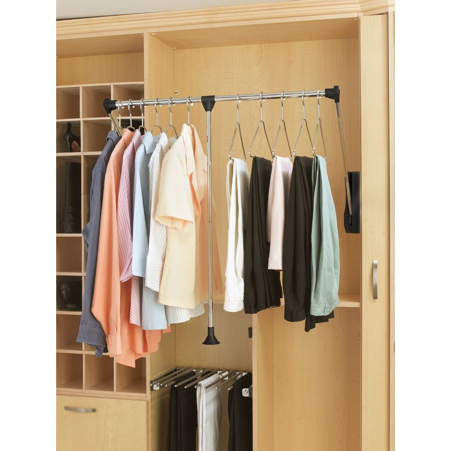 Rev A Shelf 26 In X 30 06 In X 6 In Silver Wire Pull Down Rod At Lowes Com Closet Rod Closet Rods Closet Shelves