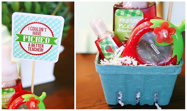 teacher gift eighteen25 berry basket gift idea free download