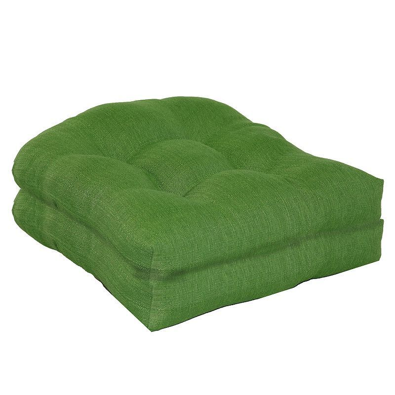 SONOMA Goods for Life™ 2-piece Indoor Outdoor Reversible ''u'' Chair Cushion Set, Green