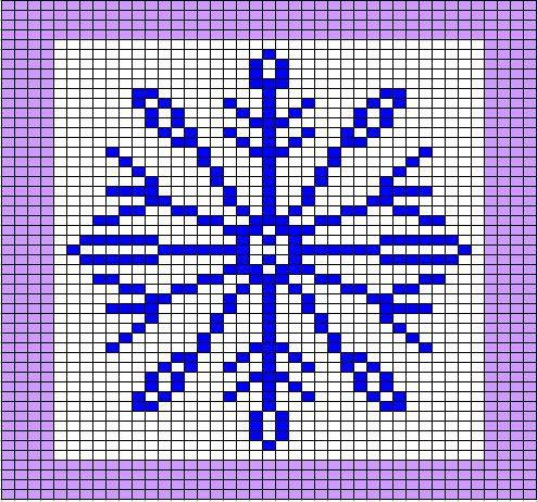 Snowflake pattern | Knitting charts, Cross stitch charts
