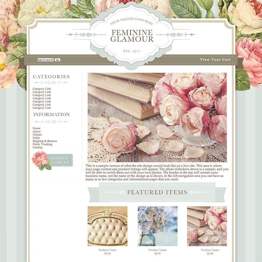 Feminine Glamour Exclusive Website Design Template
