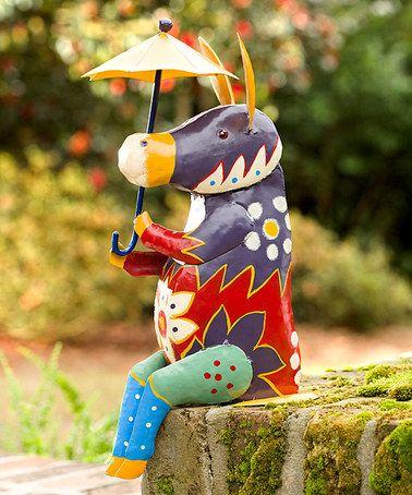Talavera Inspired Metal Donkey Garden Statue #zulilyfinds