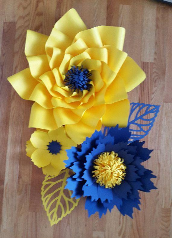 Flores De Papel Gigantes Flores De Papel Para Bautizo